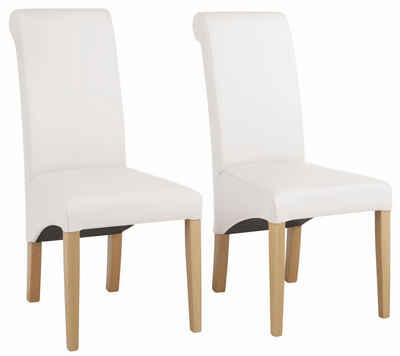 Stühle, Home Affaire, »Rito«, Wahlweise Mit Echtleder  Oder Kunstlederbezug  (
