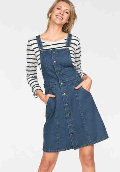 Cheer Jeanskleid mit verstellbaren Trägern