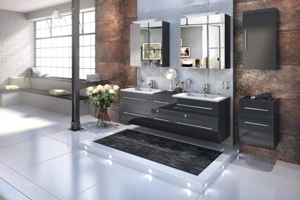 badmobel schwarz, badschrank schwarz hochglanz. free badmbel set schwarz cm hochglanz, Design ideen