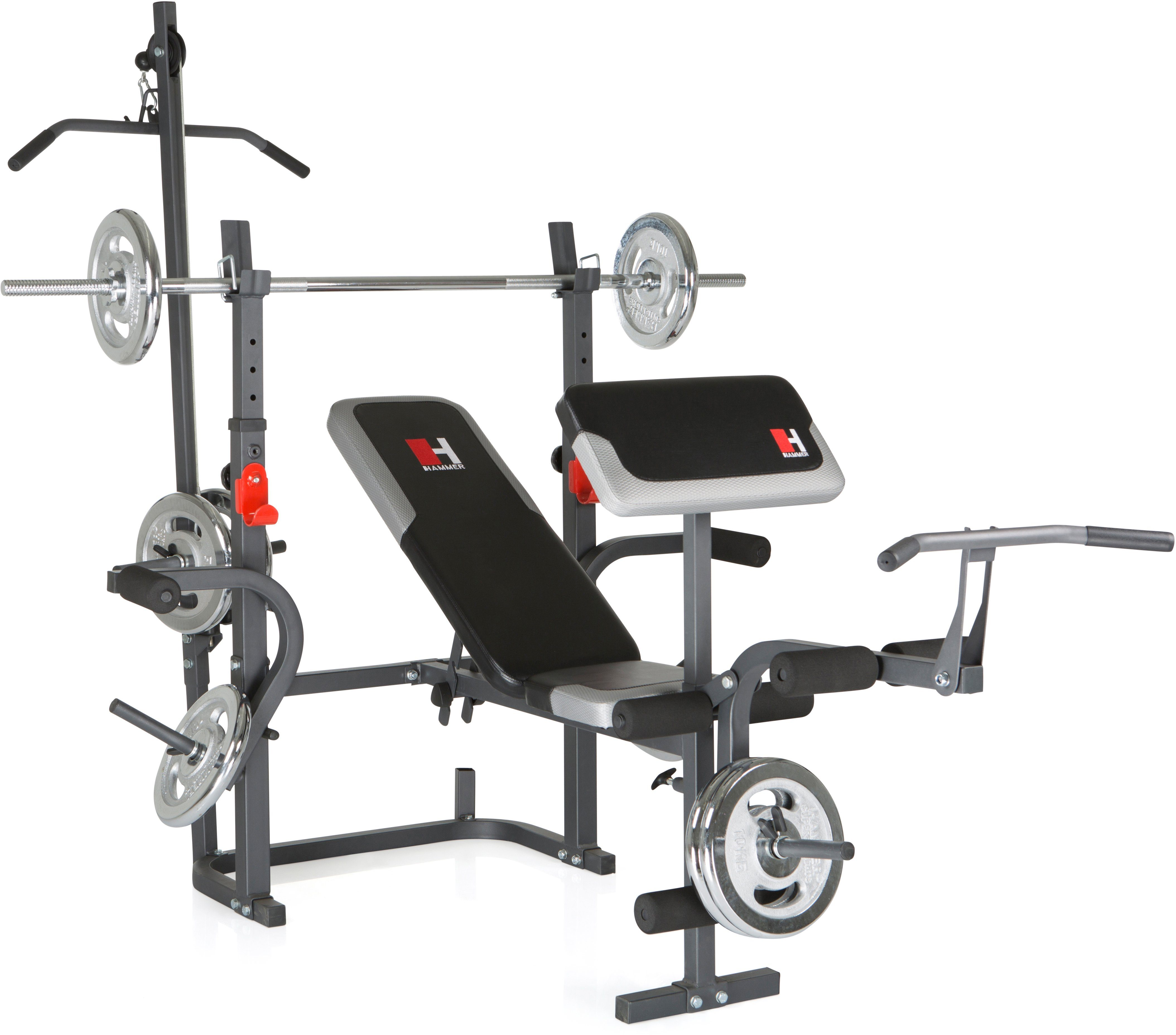 Hantelbank, Hammer, »Bermuda XT PRO«, ohne Hantelstange + Gewichte-Set