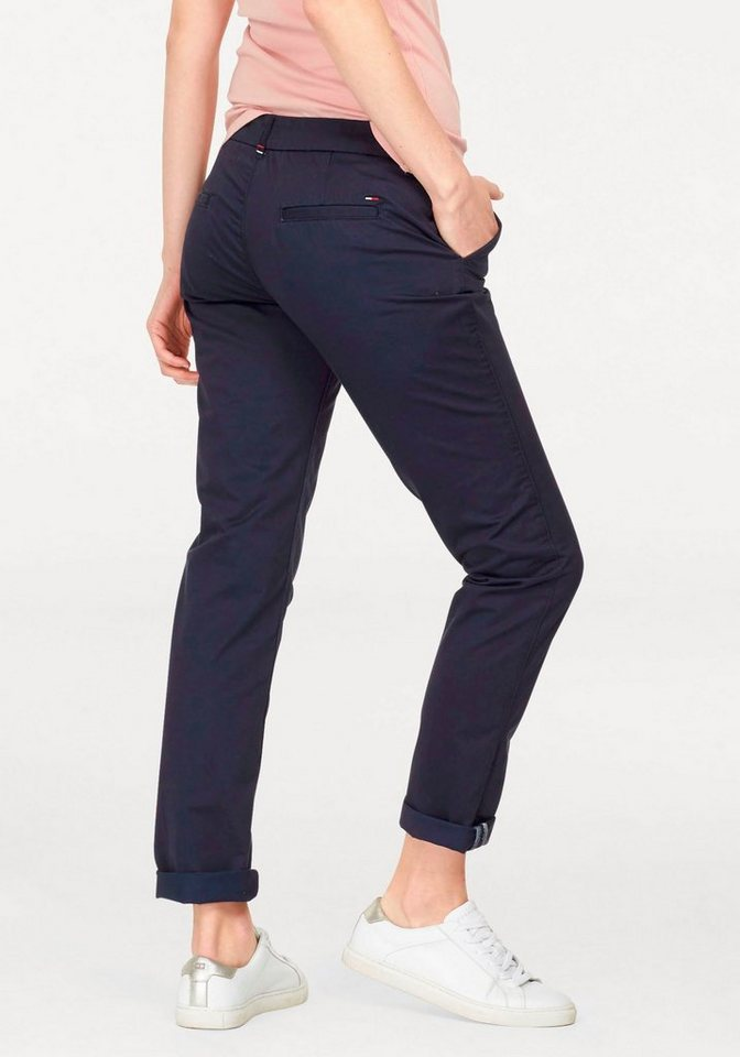 Hilfiger Denim Hosen lang »THDW MID RISE BASIC CHINO 4« in Navy