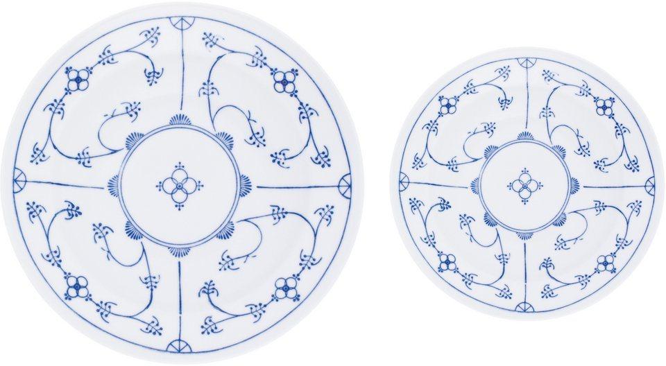 kahla tafelservice blau saks 12 tlg porzellan mikrowellengeeignet online kaufen otto. Black Bedroom Furniture Sets. Home Design Ideas