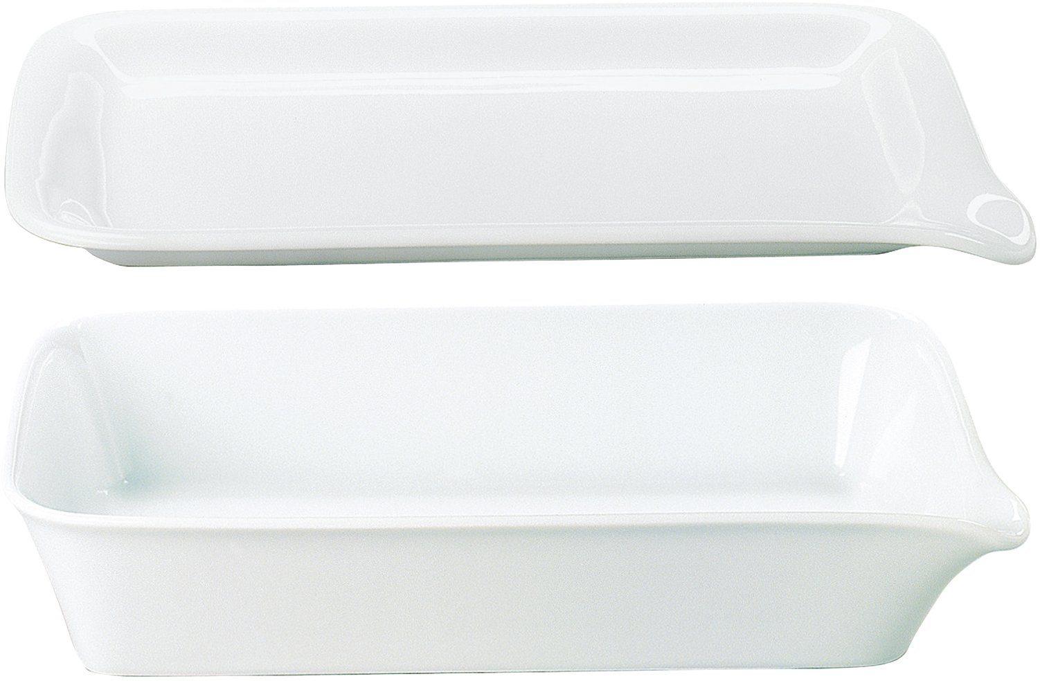 Kahla MAXI Backform + Menüplatte, Porzellan, 37x26 cm