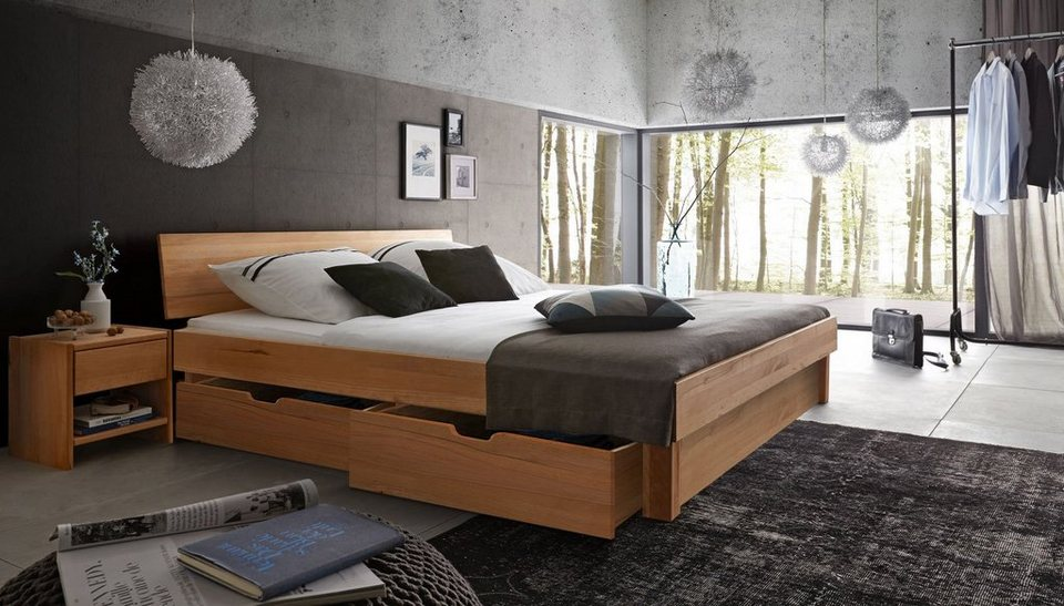 salesfever holzbett geschlossen mit bettk sten camilla online kaufen otto. Black Bedroom Furniture Sets. Home Design Ideas