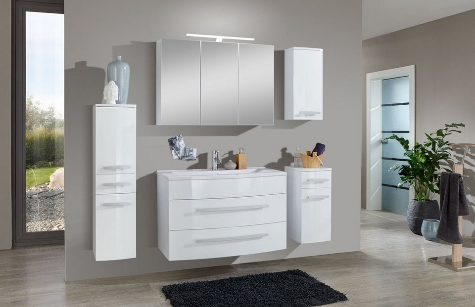 salesfever badm bel set breite 90 cm 5 tlg ganon online kaufen otto. Black Bedroom Furniture Sets. Home Design Ideas