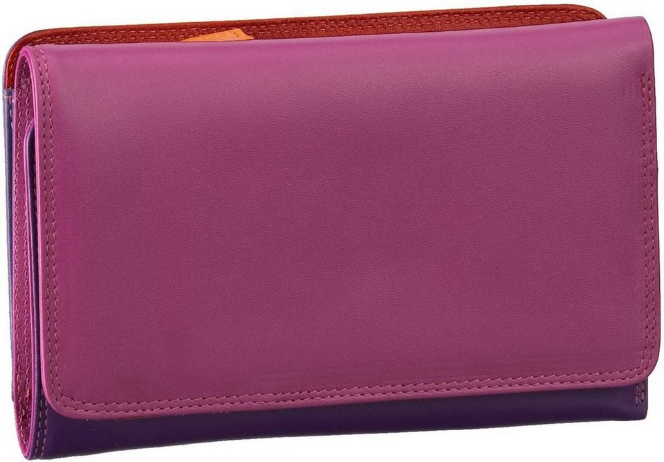 MYWALIT Medium Tri-Fold w/Outer Zip Purse in Sangria Multi