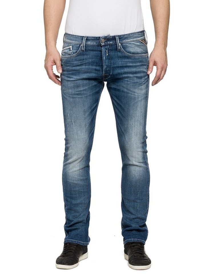 REPLAY Jeans »WAITOM« in used denim