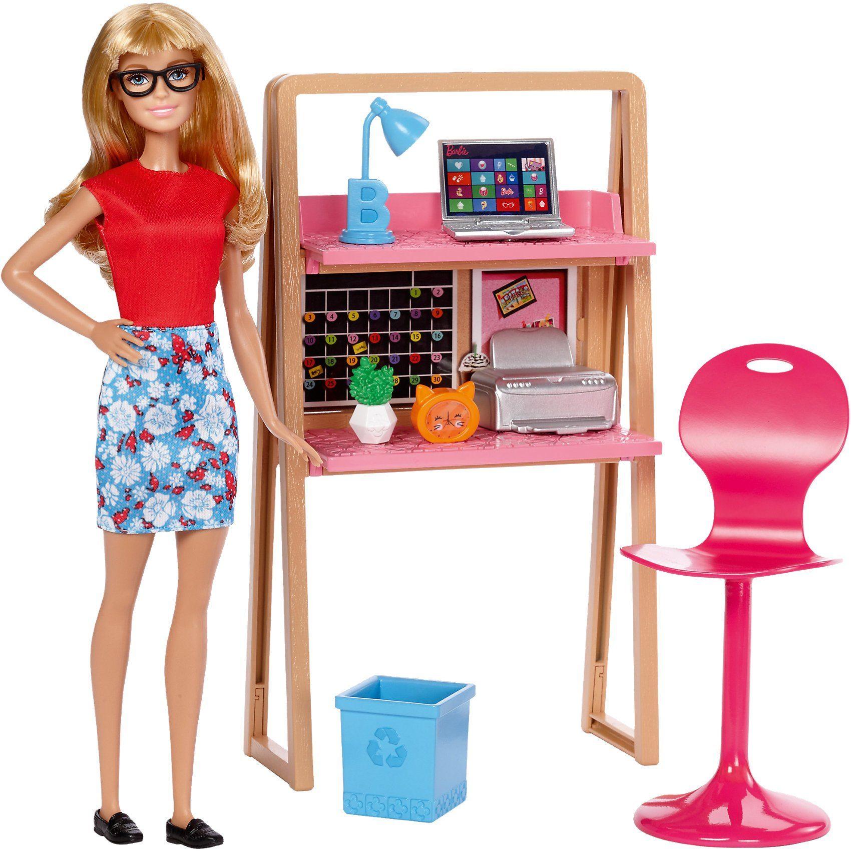 Mattel Barbie Möbel Arbeitszimmer & Puppe