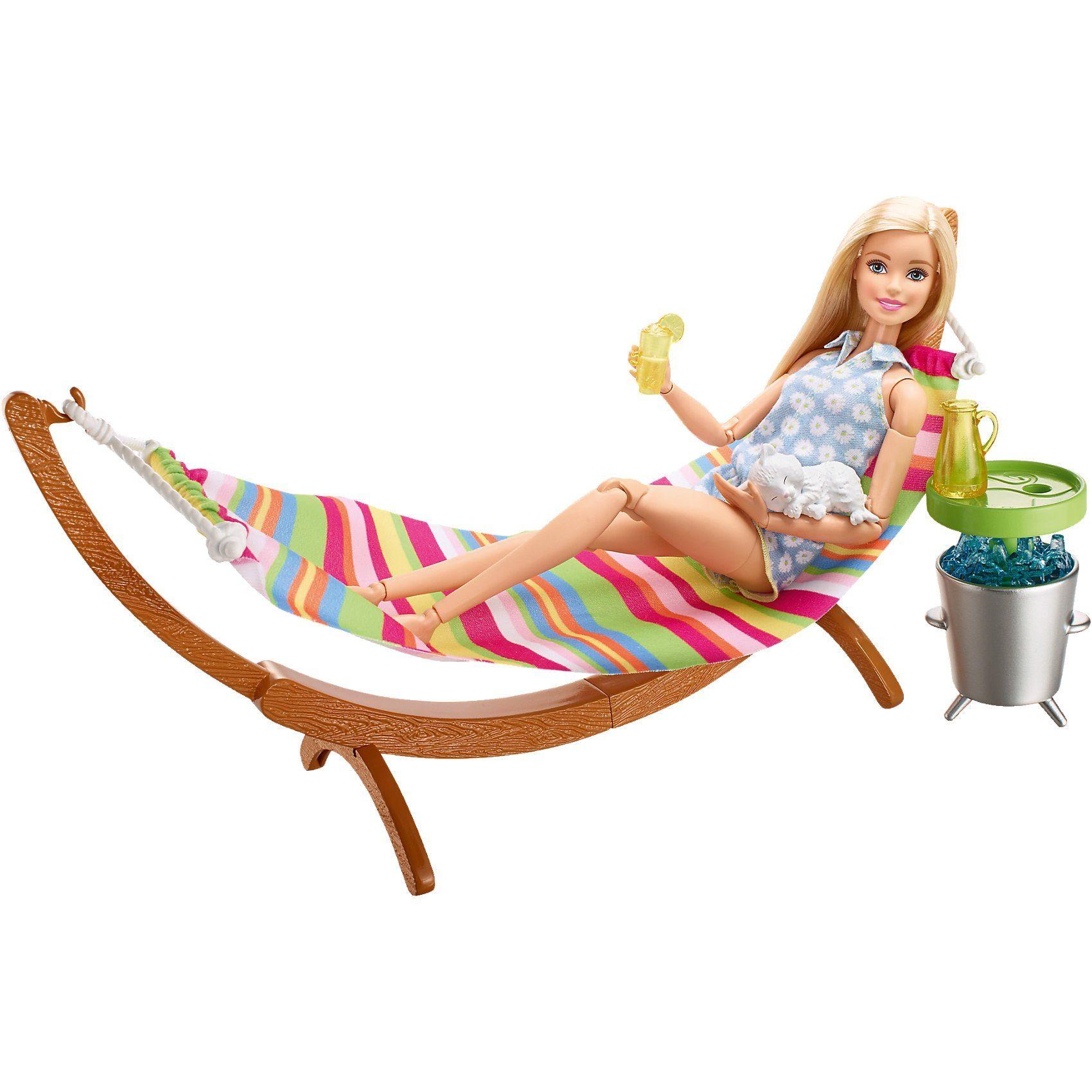 Mattel Barbie Möbel Außenbereich: Hängematte Set