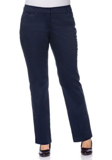sheego Class Anzughose, leicht glänzend