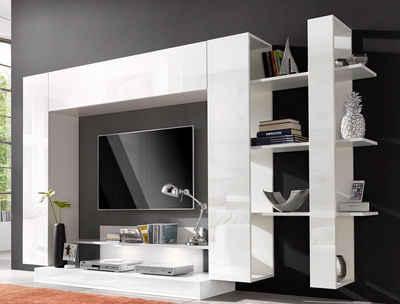 Wohnwand weiß hochglanz  Wohnwand in weiß » Hochglanz & Matt kaufen | OTTO