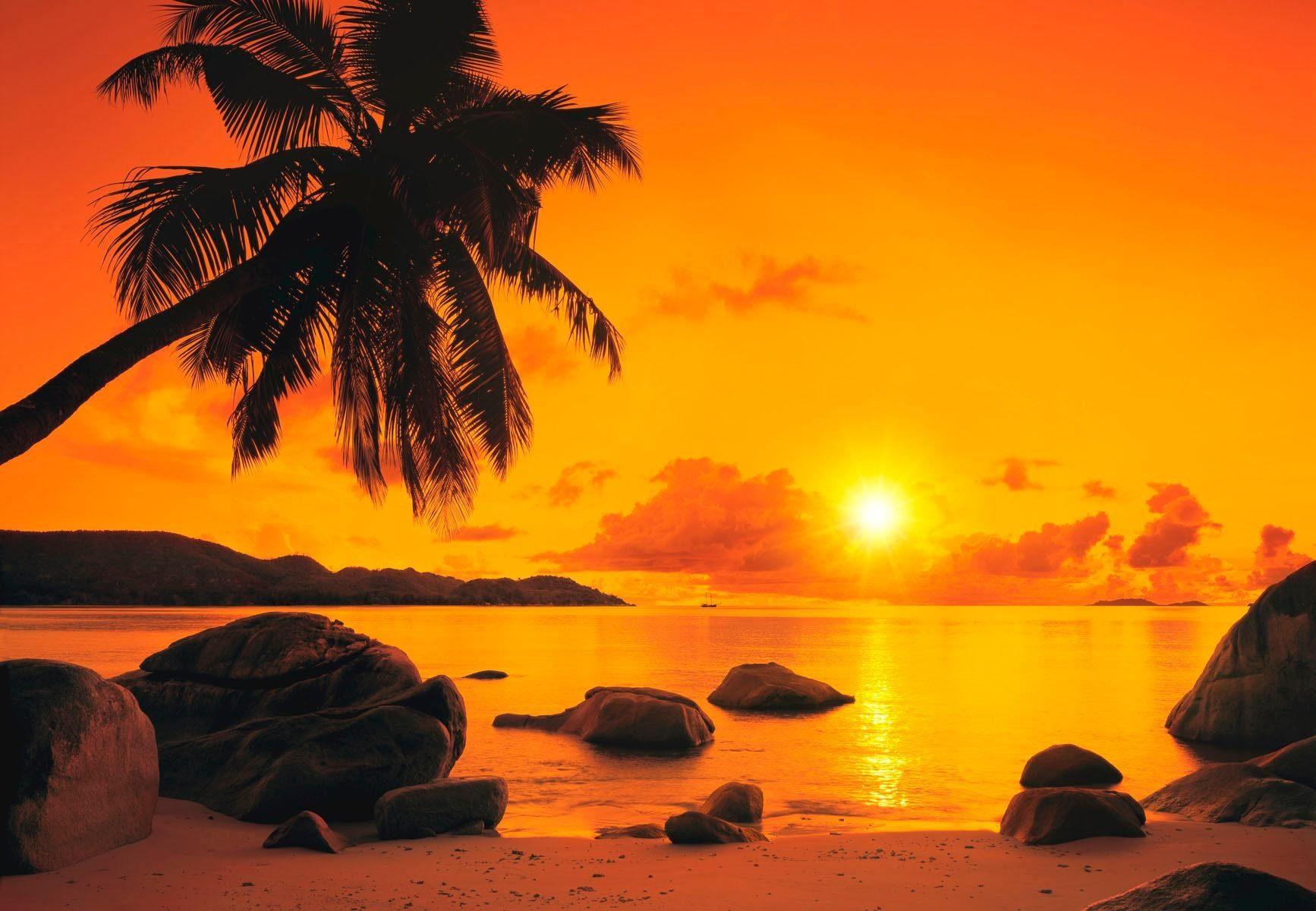 Home affaire Fototapete »Sunset«, 368/254 cm
