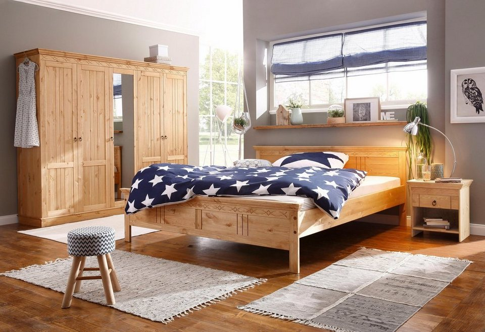 Home affaire Schlafzimmer-Set, bestehend aus 180er Bett, 5-trg Schrank und  2 Nachttischen online kaufen | OTTO