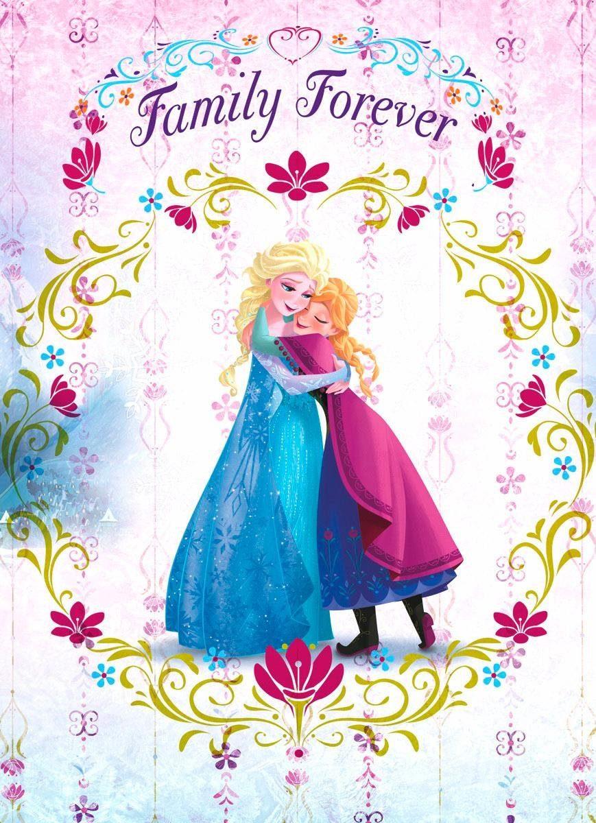 Home affaire Fototapete »Frozen Family Forever«, 184/254 cm