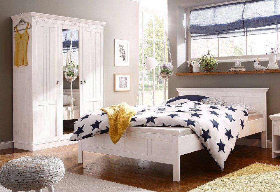 Home affaire Schlafzimmer-Set »Indra«, bestehend aus 140er Bett und  3-türigem Schrank online kaufen | OTTO