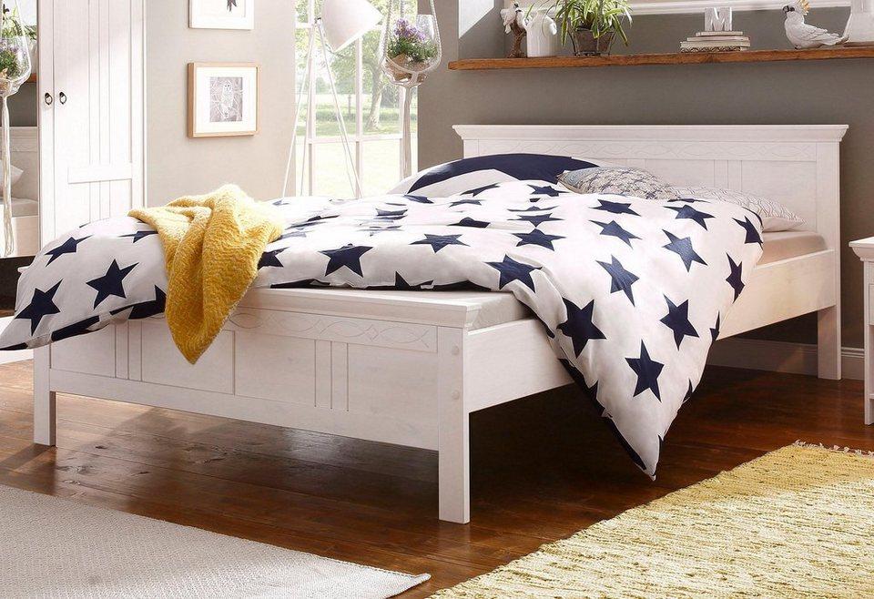 Betten Machen Dekorativ home affaire bett indra mit dekorativen fräsungen in 2 breiten