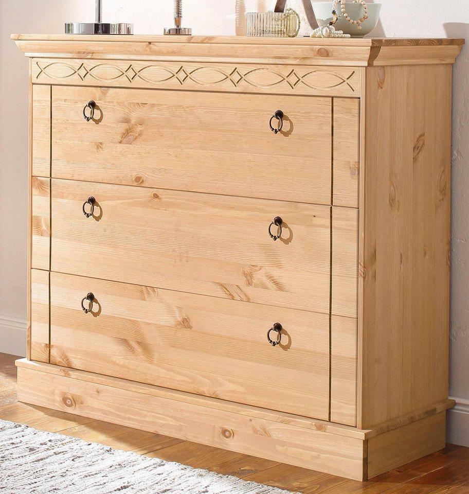 home affaire kommode indra mit dekorativen fr sungen. Black Bedroom Furniture Sets. Home Design Ideas