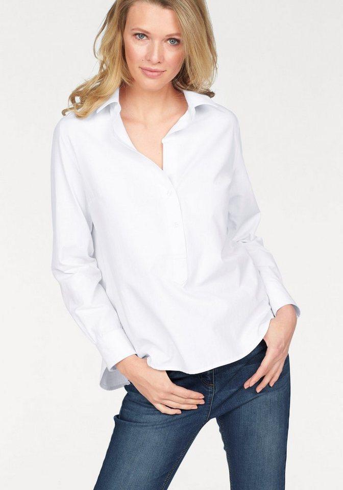 Corley Hemdbluse im Vokuhila-Style in weiß