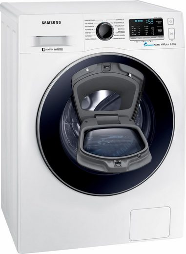 Samsung Waschmaschine WW5500 WW80K52A0VW/EG AddWash, 8 kg, 1200 U/Min, Slim, besonders platzsparend