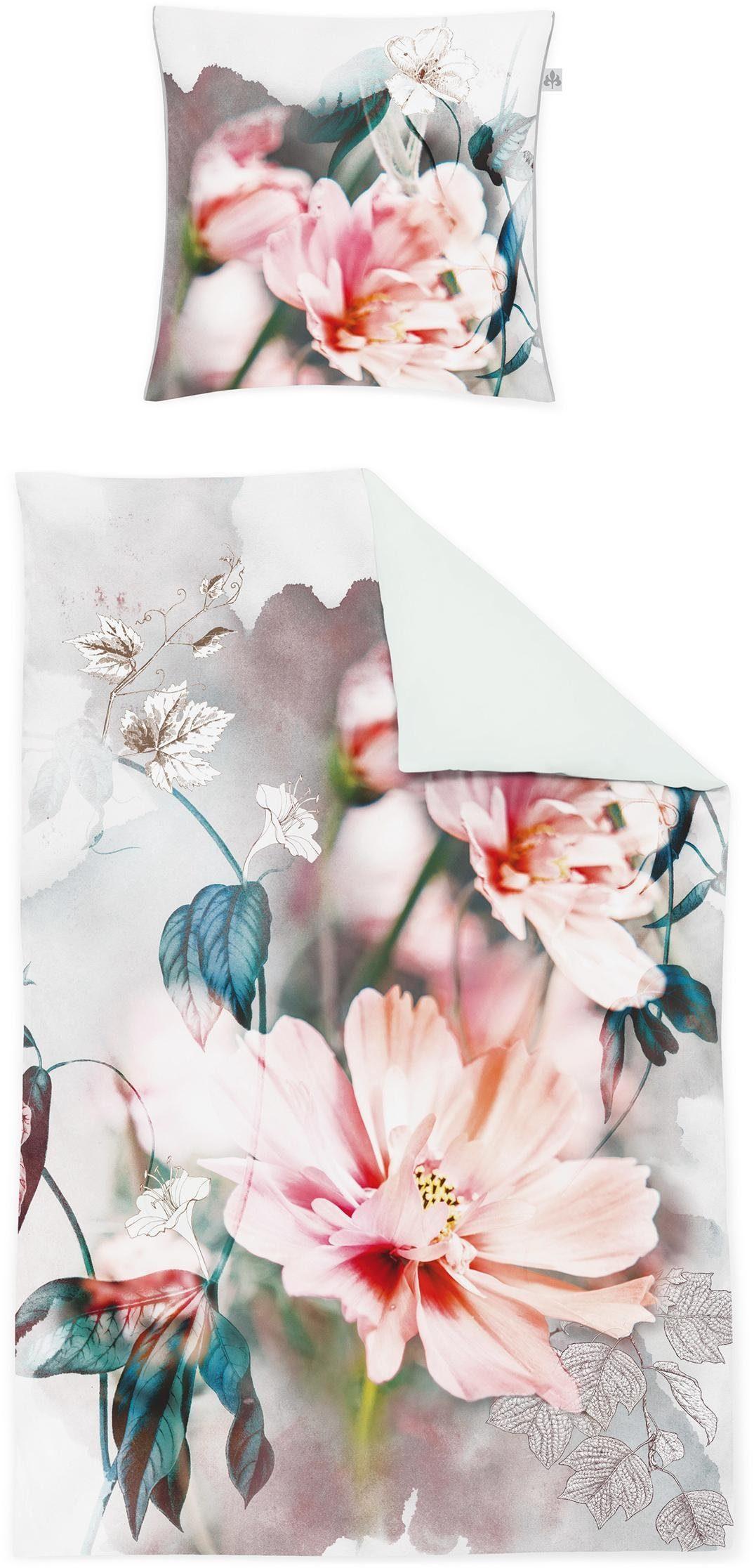 Wendebettwäsche, Irisette, »Juwel-K«, mit Blüten