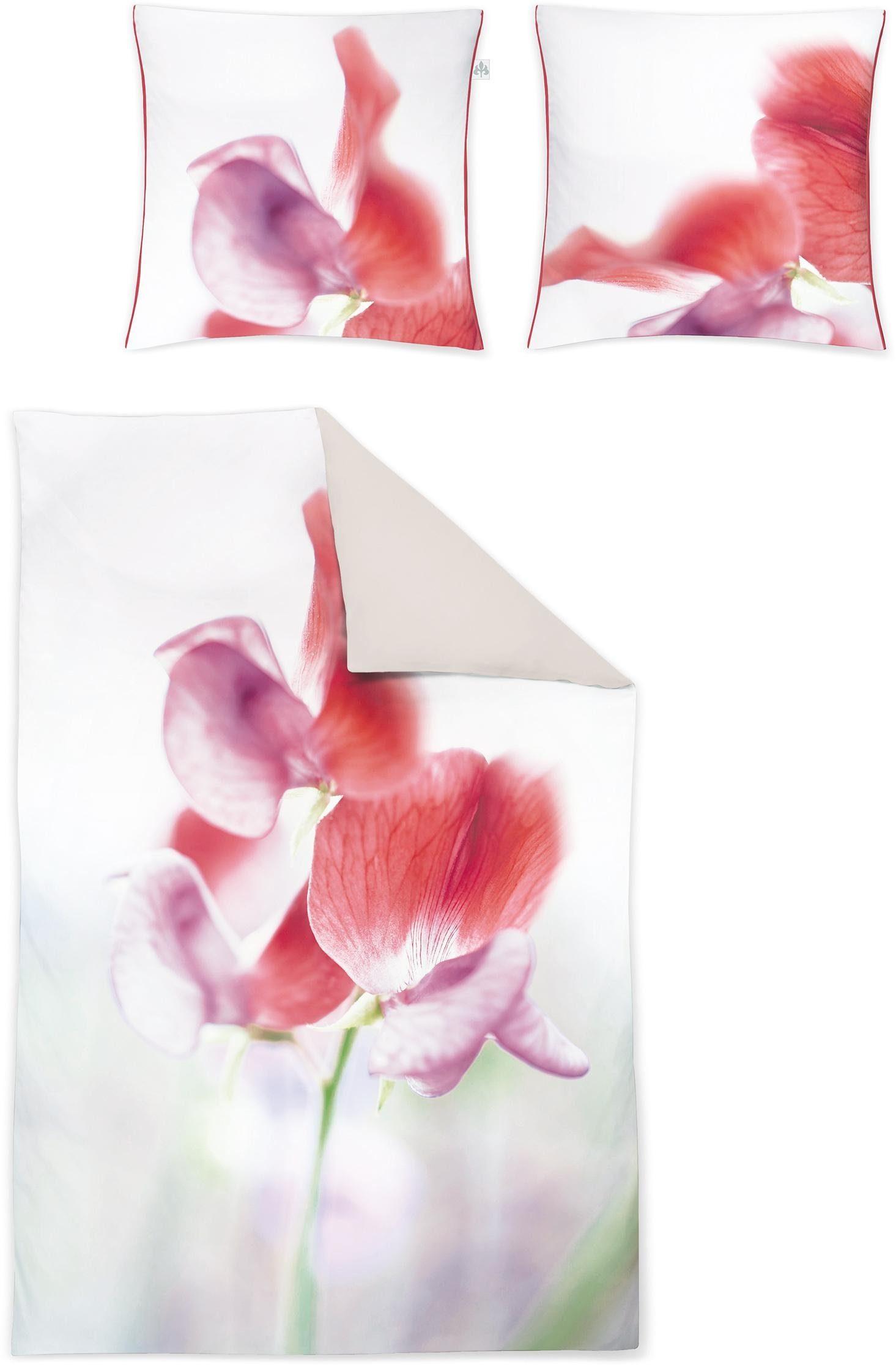Wendebettwäsche, Irisette, »Juwelo«, mit Blüten