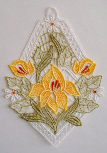 Stickereien Plauen Fensterbild »Lilienzeit« (1 Stück)