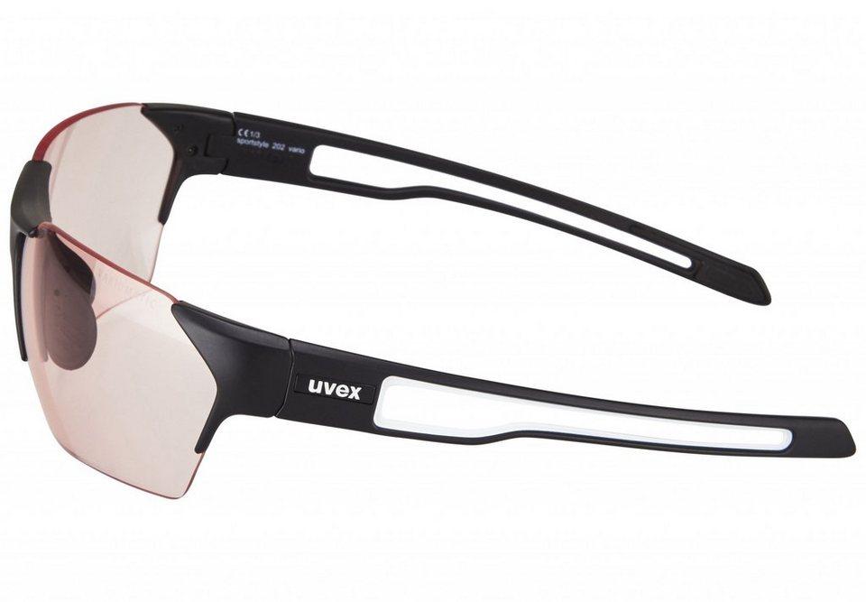 UVEX Radsportbrille »sportstyle 202 v Glasses« in schwarz