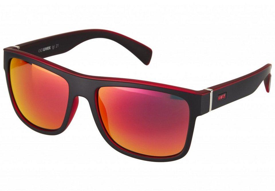 Uvex Radsportbrille »lgl 21 Glasses« in schwarz