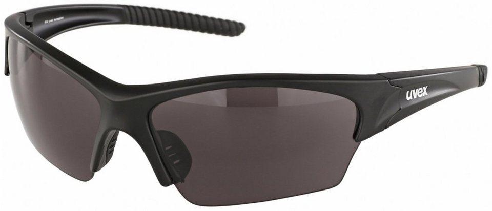 UVEX Radsportbrille »sunsation Glasses« in schwarz