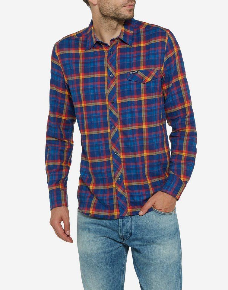 Wrangler Shirt »L/S 1 Pkt Shirt Deep Water« in deep water