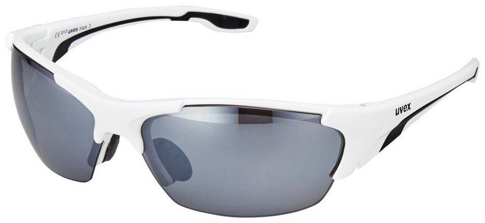 UVEX Radsportbrille »blaze lll Glasses« in weiß