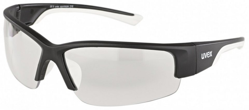 UVEX Radsportbrille »sportstyle 215 Glasses« in schwarz