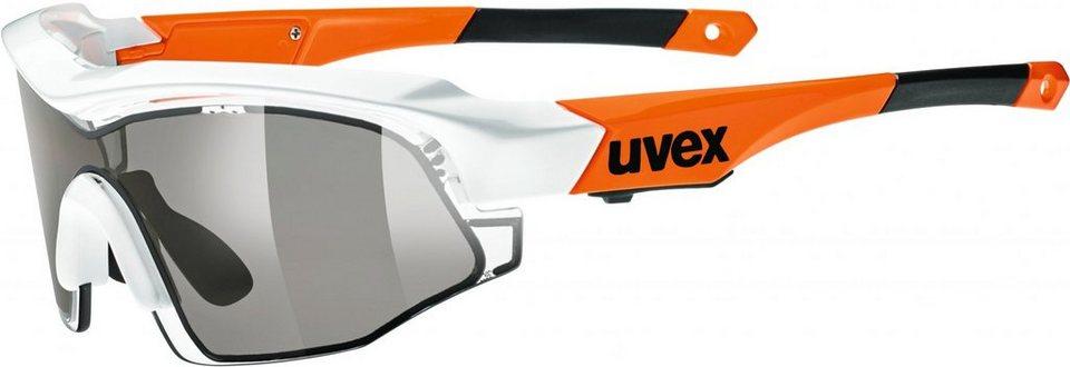 UVEX Radsportbrille »variotronic s Glasses« in orange