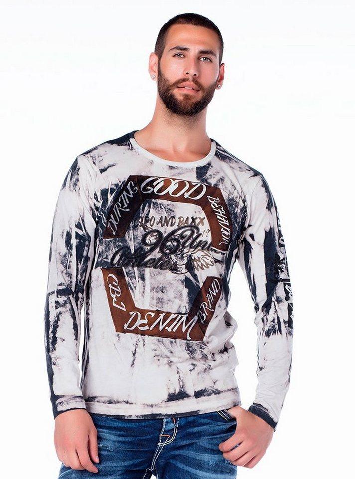 Cipo & Baxx Sweatshirt in HELLGRAU