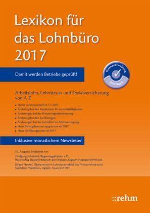 Broschiertes Buch »Lexikon für das Lohnbüro 2017«
