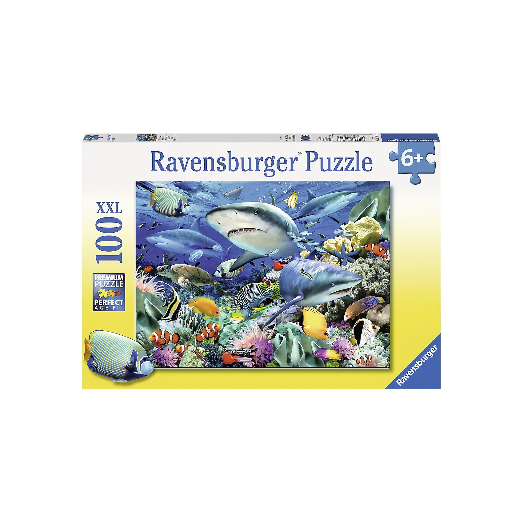 Ravensburger Puzzle 100 Teile XXL Riff der Haie