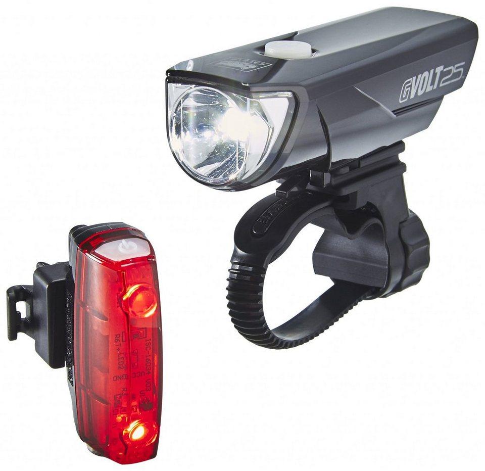 CatEye Fahrradbeleuchtung »GVolt 25 HL-EL360GRC + Rapid Micro G HL-EL620G Set«