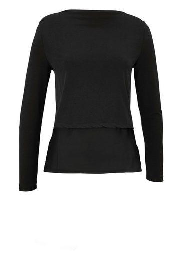 Vivance Shirtbluse, mit asymmetrischen Saumabschluß
