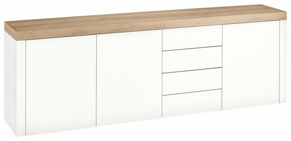 borchardt m bel sideboard panama breite 200 cm mit push to open funktion online kaufen otto. Black Bedroom Furniture Sets. Home Design Ideas