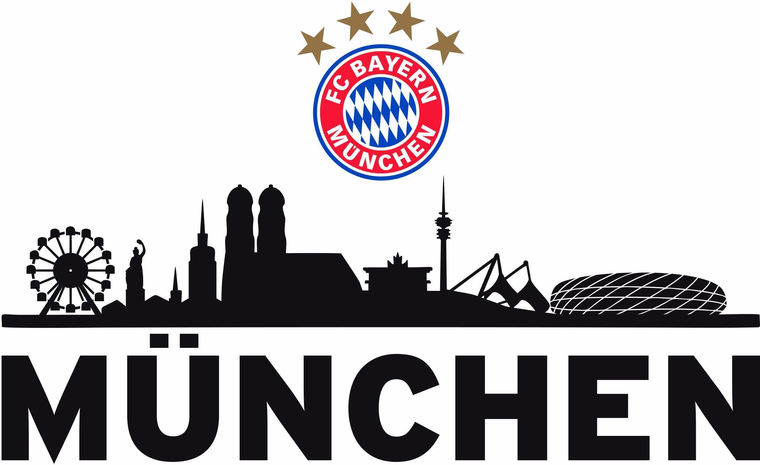 Wandtattoo »FC Bayern Skyline«, 60/27 cm
