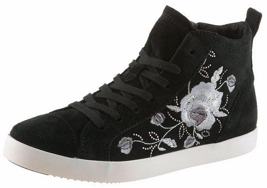 Tamaris Sneaker, mit Blumenstickerei