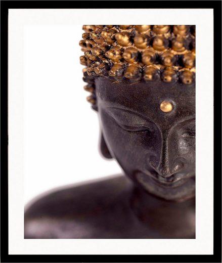 G&C Kunstdruck »Buddha«, front, 43/53 cm, gerahmt