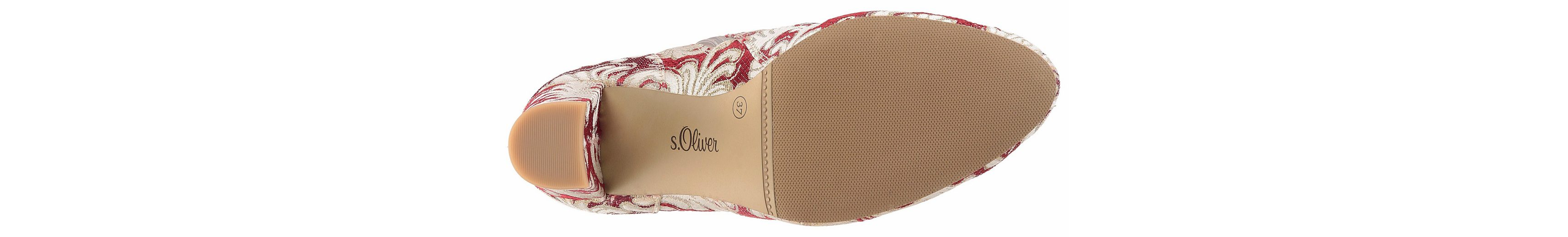 s.Oliver RED LABEL Stiefelette, in aufwändigem Materialdesgin