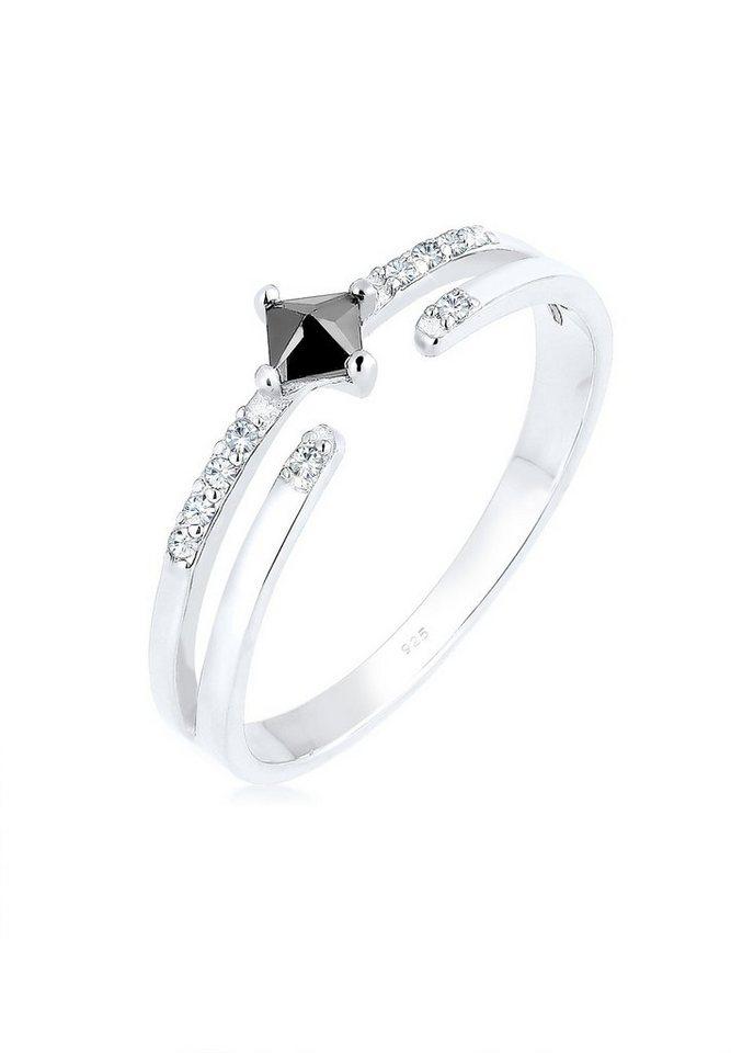 Elli Ring »Modern Zirkonia Swarovski® Kristalle 925 Silber«   Schmuck > Ringe > Silberringe   Elli