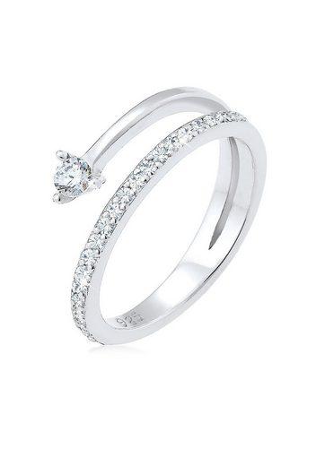 Elli Ring »Pfeil Zart Zirkonia Swarovski® Kristalle Silber«