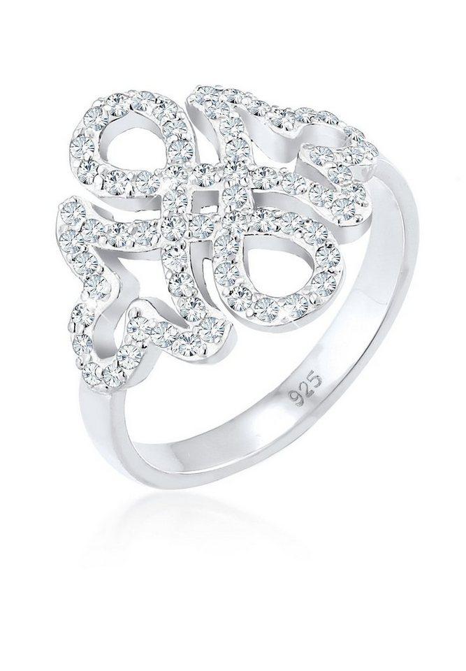 elli ring infinity ornament swarovski kristalle 925. Black Bedroom Furniture Sets. Home Design Ideas