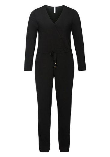 Sheego Style Jumpsuit, In Wickeloptik