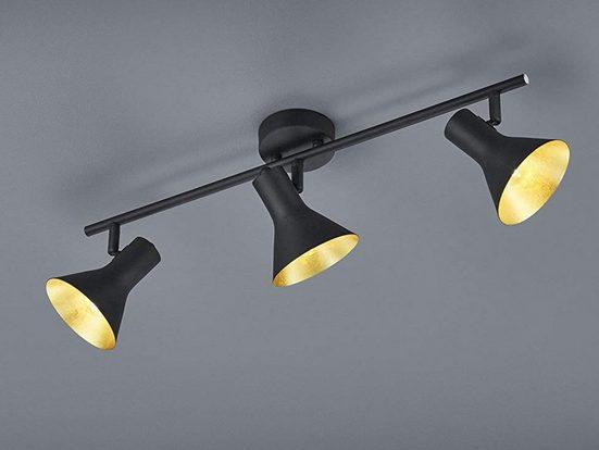 TRIO LED Deckenstrahler, dimmbarer Licht-Spot Strahler rund dreiflammig Retro Decken-Strahler Industrie-Design schwenkbar