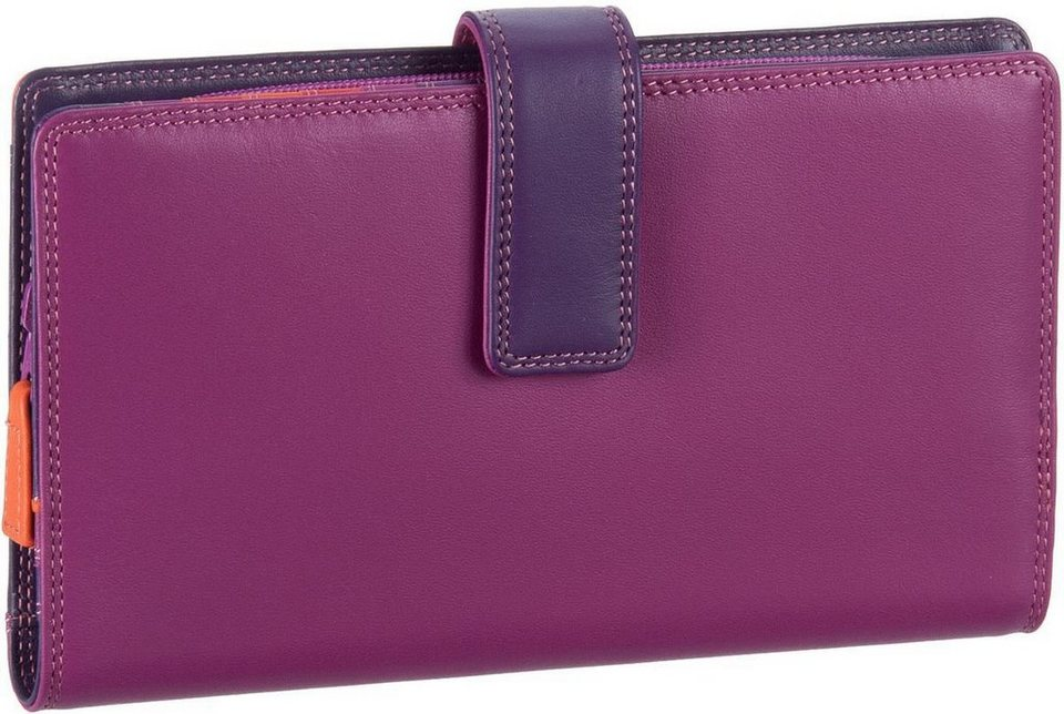 Mywalit Large Tab Wallet with Zip Purse in Sangria Multi