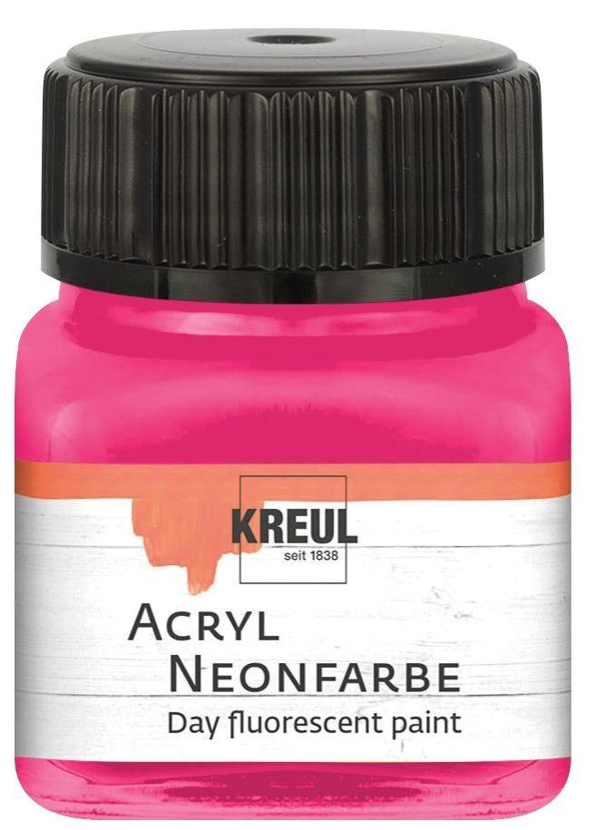 Kreul Acryl Neonfarbe, 20 ml in Neonpink